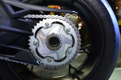 Motorfietsketting in Bigbike Stock Afbeelding