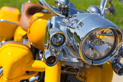 Motorfietskoplamp royalty-vrije stock foto's