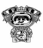 Motorfietsmachine Royalty-vrije Stock Fotografie