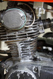 Motorfietsmotor in roest Royalty-vrije Stock Foto