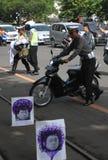 Motorfietsongeval Stock Foto's