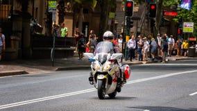 Motorfietsparamedicus in Sydney Stock Foto's