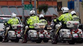 Motorfietspolitie in Edmonton Stock Afbeeldingen