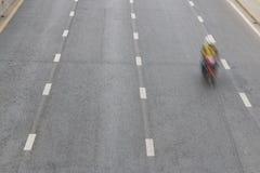 Motorfietsrit op de weg Royalty-vrije Stock Fotografie