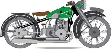 Motorfietsvector, Motorbiker, Vervoer, Reiziger, retro Sport, wijnoogst royalty-vrije illustratie
