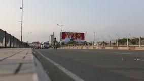 Motorfietsverkeer in Ho Chi Minh-stad stock videobeelden