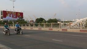 Motorfietsverkeer in Ho Chi Minh-stad stock footage
