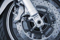 Motorfietswiel met rem royalty-vrije stock foto