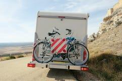 Motorhome自行车 库存图片