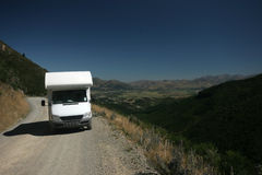 Motorhome. A motorhome cruising in NZ royalty free stock images