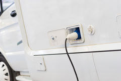 Motorhome charge stock photography