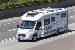 Motorhome on the highway Stock Photography