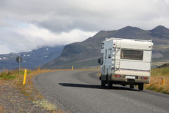Motorhome in Iceland Stock Photo