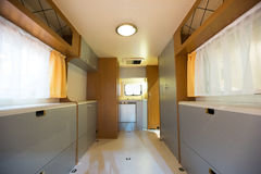 Motorhome. Interior of a Motorhome,wide-angle shot Stock Image