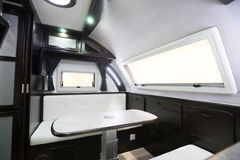 Motorhome. Interior of a Motorhome,wide-angle shot Stock Photos
