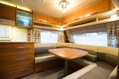 Motorhome. Interior of a Motorhome,wide-angle shot Stock Photography