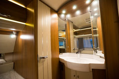 Motorhome. Interior of a Motorhome,wide-angle shot Royalty Free Stock Photos