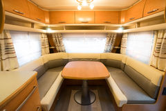 Motorhome. Interior of a Motorhome,wide-angle shot Royalty Free Stock Photo