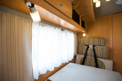 Motorhome. Interior of a Motorhome,wide-angle shot Royalty Free Stock Photography