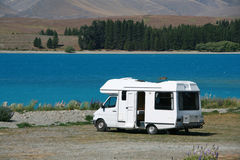 Motorhome at the Lake Stock Photos