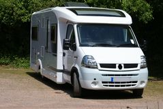 Motorhome. motor coach. recreational vehicle. RV. motorised caravan Stock Photos