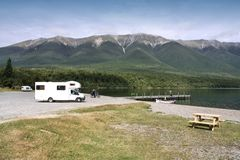 Motorhome in New Zealand Royalty Free Stock Images