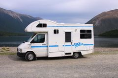 Motorhome in New Zealand Royalty Free Stock Image