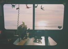 Motorhome oceaanmening Stock Fotografie