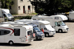 The motorhome parked Stock Photo