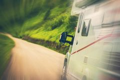 Motorhome Road Trip Royalty Free Stock Image