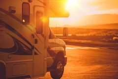 Motorhome RV Campers Stock Photo