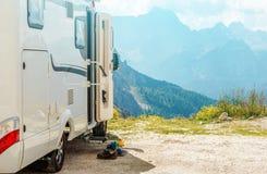 Motorhome RV gór wycieczka Obraz Royalty Free