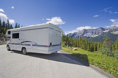 Motorhome side view and wide angle Royalty Free Stock Photo