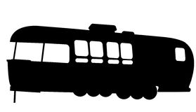 Motorhome silhouette. A  illustration of a black motorhome silhouette Royalty Free Stock Images