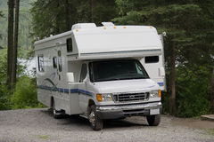 Motorhome with slide-out Stock Image