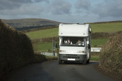 Motorhome travels through English countryside Royalty Free Stock Photography