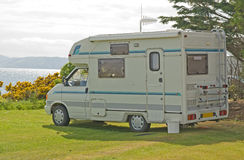 Motorhome with TV aerials. Royalty Free Stock Photos