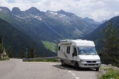 Motorhome vacation Royalty Free Stock Images