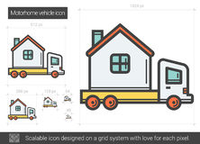 Motorhome vehicle line icon. Royalty Free Stock Photos