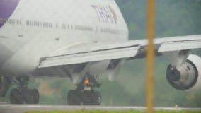 Motori dell'aeroplano widebody video d archivio