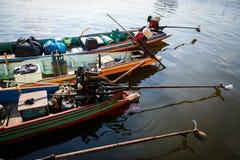 Motori delle piccole barche Fotografia Stock Libera da Diritti