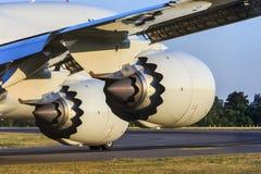 Motori a propulsione dettagliatamente fotografia stock