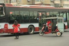 Motorini cinesi dei ciclomotori, Pechino, Cina Immagini Stock