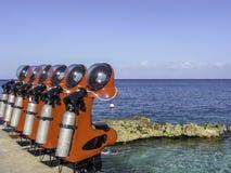 Motorini dello scuba in Cozumel Messico Fotografie Stock Libere da Diritti
