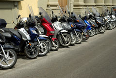 Motorini in Italia Fotografia Stock Libera da Diritti