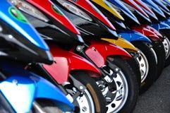 Motorini per affitto Fotografie Stock