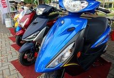 Motorini rispettosi dell'ambiente elettrici Fotografia Stock Libera da Diritti
