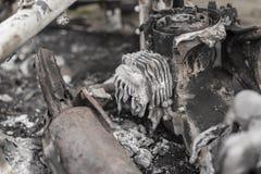 Motorino bruciato Fotografie Stock Libere da Diritti