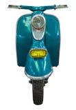 Motorino d'annata blu isolato Fotografia Stock Libera da Diritti