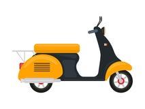 Motorino di giallo del fumetto di vettore con un motore illustrazione vettoriale